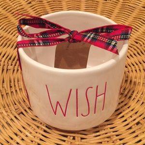 "Rae Dunn ""Wish""  ceramic pot"